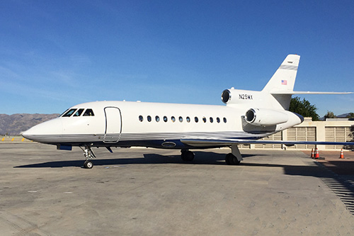 Dreamline Aviation's Van Nuys based Falcon 900C